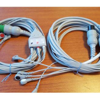 Cable paciente tripolar y pentapolar de ECG para monitores multiparamétricos
