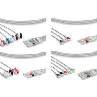 Set de latiguillos tripolares y pentapolares, Snap din para cable paciente de ECG LEAD