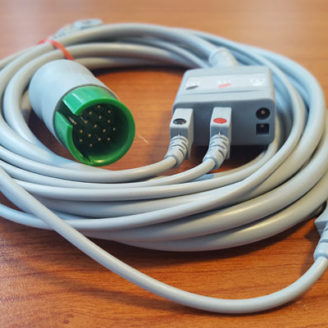 Cable Paciente de ECG Troncal y Set Tripolar de Latiguillos compatible Spacelabs LEAD